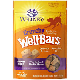 Wellness Crunchy WellBars Chicken & Cheddar Cheese Recipe Dog Treats 8oz
