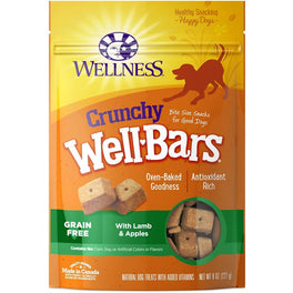 Wellness Crunchy WellBars Lamb & Apples Recipe Dog Treats 8oz