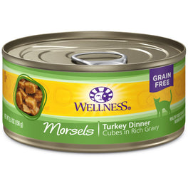 Wellness Complete Health Morsels Cubed Turkey Dinner Canned Cat Food 156g