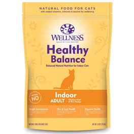 'FREE TREATS': Wellness Healthy Balance Chicken Meal & Rice Recipe Indoor Adult Dry Cat Food