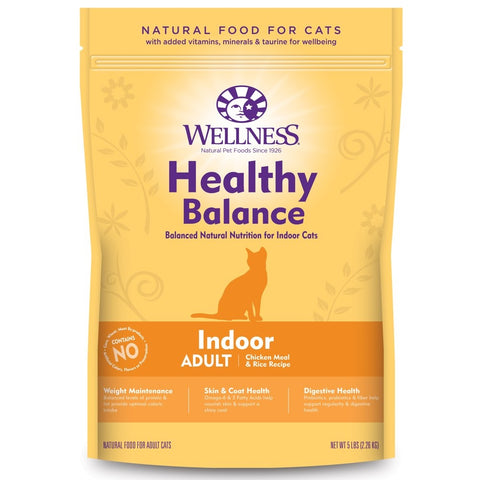 Wellness Healthy Balance Chicken Meal & Rice Recipe Indoor Adult Dry Cat Food