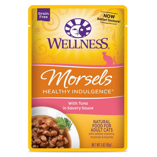 BUY 3 GET 1 FREE: Wellness Healthy Indulgence Morsels Tuna In Sauce Pouch Cat Food 3oz