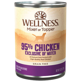 Wellness Ninety-Five Percent Chicken Canned Dog Food 374g