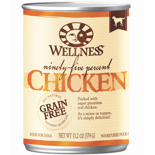 20% OFF: Wellness Ninety-Five Percent Chicken Canned Dog Food 374g - Kohepets