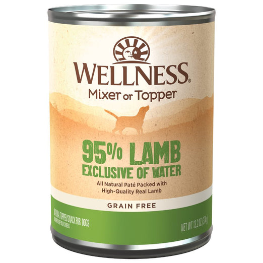 20% OFF: Wellness Ninety-Five Percent Lamb Canned Dog Food 374g - Kohepets