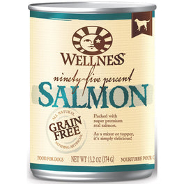 Wellness Ninety-Five Percent Salmon Canned Dog Food 374g