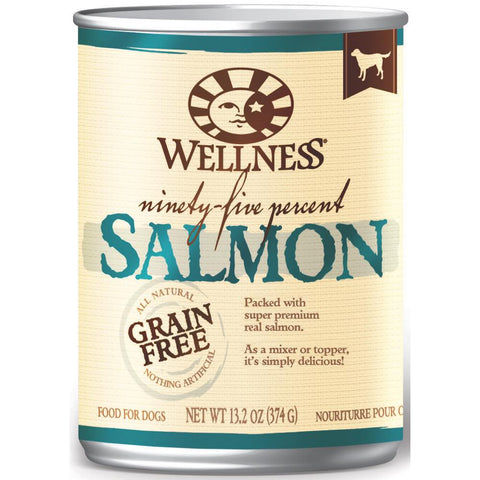 20% OFF: Wellness Ninety-Five Percent Salmon Canned Dog Food 374g - Kohepets