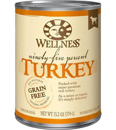 Wellness Ninety-Five Percent Turkey Canned Dog Food 374g