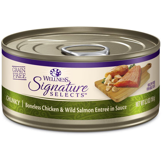 BUY 3 GET 1 FREE: Wellness CORE Signature Selects Chunky Chicken & Salmon Canned Cat Food 5.3oz
