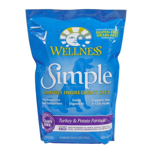 'FREE Treats w 26lb': Wellness Simple Grain-Free Turkey & Potato Formula Dry Dog Food - Kohepets