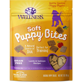 Wellness Soft Puppy Bites Lamb & Salmon Recipe Dog Treats 3oz