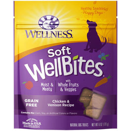 10% OFF (Exp May 20): Wellness Soft WellBites Chicken & Venison Recipe Grain Free Dog Treats 6oz
