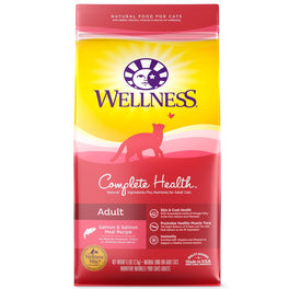 $25 OFF 12lb: Wellness Complete Health Adult Salmon & Salmon Meal Dry Cat Food (Exp 13 Aug 19)