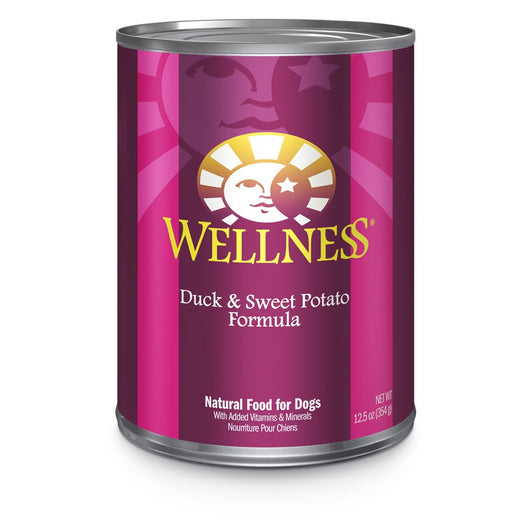 20% OFF: Wellness Complete Health Duck & Sweet Potato Canned Dog Food 354g - Kohepets
