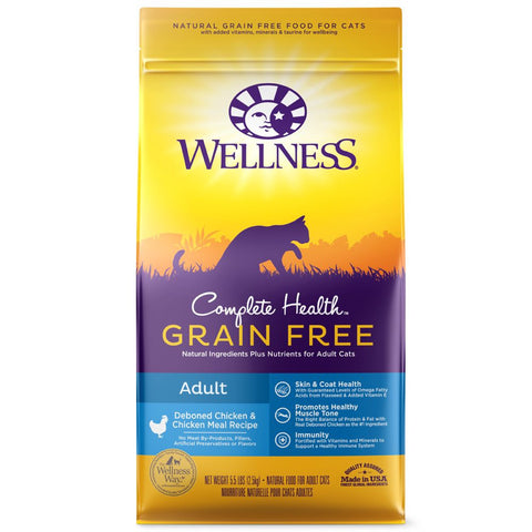 Wellness Complete Health Grain Free Adult Deboned Chicken & Chicken Meal Dry Cat Food - Kohepets