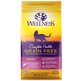 20% OFF 5.5lb: Wellness Complete Health Grain Free Indoor Salmon & Herring Dry Cat Food (Exp 28 Aug 19)