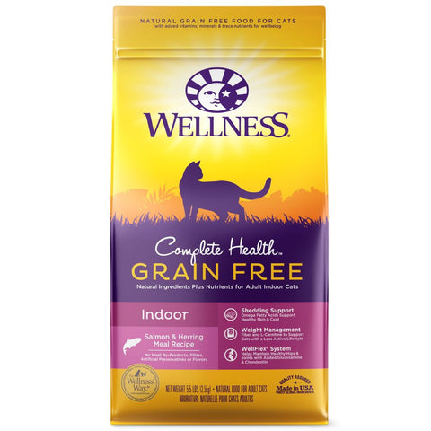 Wellness Complete Health Grain Free Indoor Salmon & Herring Dry Cat Food