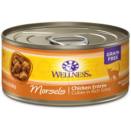 Wellness Complete Health Morsels Cubed Chicken Entree Canned Cat Food 156g
