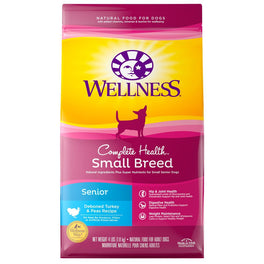 Wellness Complete Health Small Breed Turkey & Peas Senior Dry Dog Food 4lb
