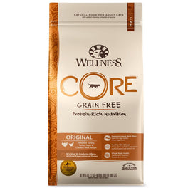 20% OFF 2lb: Wellness CORE Original Deboned Turkey, Turkey Meal & Chicken Meal Dry Cat Food (Exp Sep 19)