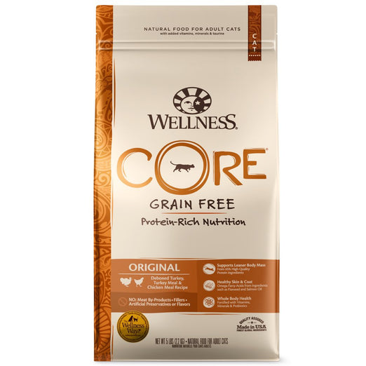 '30% OFF 11lb (Exp 8 May)': Wellness CORE Original Deboned Turkey, Turkey Meal & Chicken Meal Dry Cat Food - Kohepets