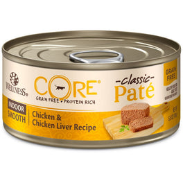Wellness CORE Pâté Indoor Chicken & Chicken Liver Canned Cat Food 155g