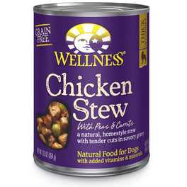 Wellness Homestyle Stew Chicken Stew With Peas & Carrots Canned Dog Food 354g
