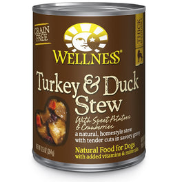 Wellness Homestyle Stew Turkey & Duck Stew with Sweet Potatoes & Cranberries Canned Dog Food 354g