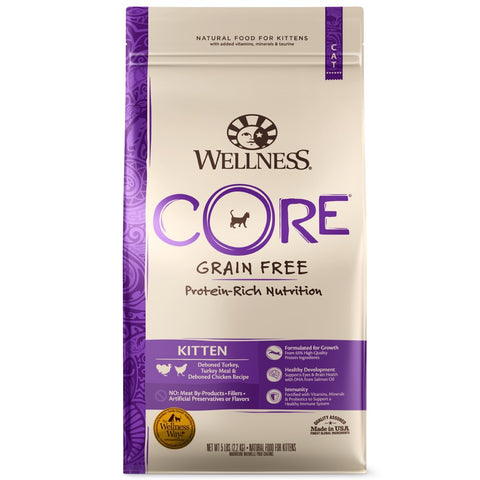 Wellness CORE Kitten Deboned Turkey, Turkey Meal & Deboned Chicken Dry Cat Food
