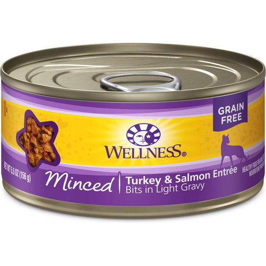 Wellness Complete Health Minced Turkey & Salmon Entree Canned Cat Food 156g