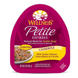 BUY 3 GET 1 FREE: Wellness Petite Entrees Casserole Tender Chicken, Green Beans & Carrots Cup Tray Dog Food 85g