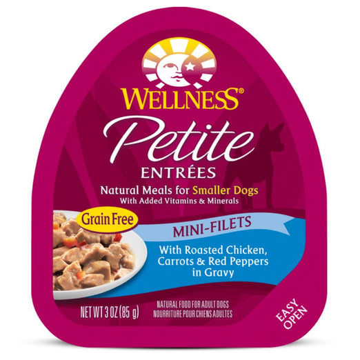 10% OFF: Wellness Petite Entrees Mini-Filets Roasted Chicken in Gravy Cup Tray Dog Food 85g - Kohepets