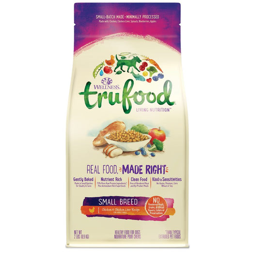 Wellness TruFood Baked Nuggets Small Breed Chicken & Chicken Liver Recipe Grain-Free Dry Dog Food - Kohepets