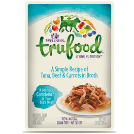 BUY 3 GET 1 FREE: Wellness TruFood Meal Complements Tuna, Beef & Carrots Pouch Dog Food 2.8oz