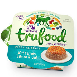 BUY 3 GET 1 FREE: Wellness TruFood Tasty Pairings Carrots, Salmon & Cod Cup Tray Dog Food 5oz