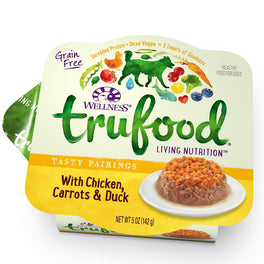 20% OFF: Wellness TruFood Tasty Pairings Chicken, Carrots & Duck Cup Tray Dog Food 5oz (Exp Dec 19)
