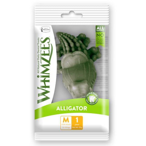 6 FOR $10 W/ MIN. $60 SPEND: Whimzees Alligator Medium Natural Dog Treat 1ct - Kohepets