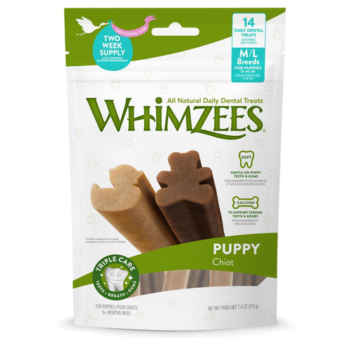 33% OFF: Whimzees Puppy Grain-free Dental Dog Treats (M/L) 210g - Kohepets