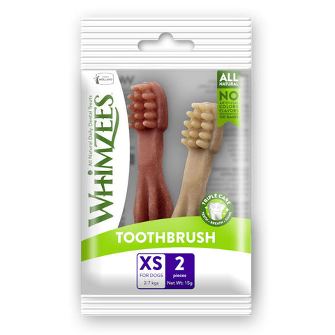 10 FOR $10 W/ MIN. $60 SPEND: Whimzees Toothbrush Extra Small Natural Dog Treats 2ct - Kohepets