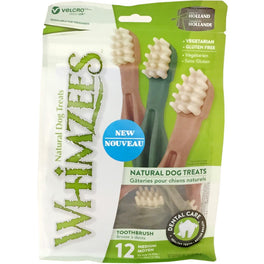 33% OFF: Whimzees Toothbrush Medium Natural Dog Treats 360g