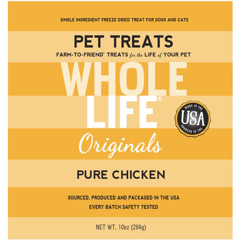 Whole Life Originals Freeze Dried Chicken Breast Cat & Dog Treats 10oz - Kohepets