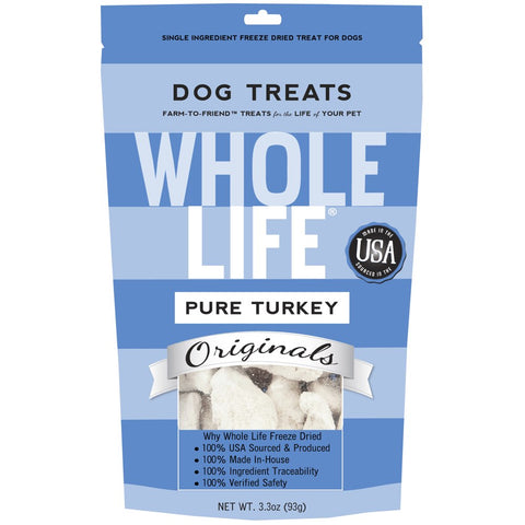 Whole Life Originals Freeze Dried Turkey Breast Dog Treats - Kohepets