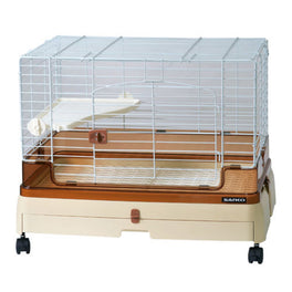 Wild Sanko Easy Home Next To Rabbit Cage With Pull Out Tray