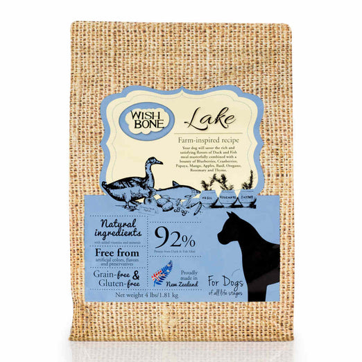 Wishbone Grain Free & Gluten Free Lake Duck & Fish Dry Dog Food - Kohepets