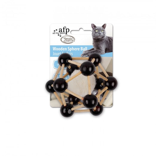 All For Paws Comfort Wooden Sphere Ball Cat Toy - Kohepets