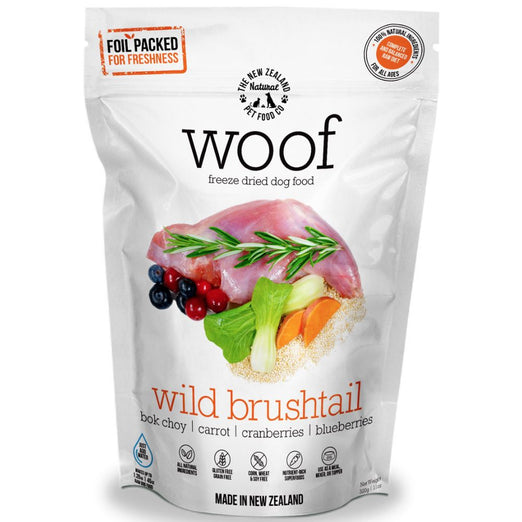 'BUNDLE DEAL': WOOF Wild Brushtail Freeze Dried Raw Dog Food