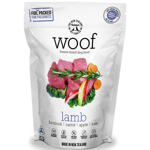 'BUNDLE DEAL': WOOF Lamb Freeze Dried Raw Dog Food - Kohepets