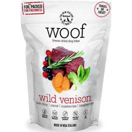 $5 OFF: WOOF Wild Venison Freeze Dried Dog Bites Treats 50g