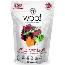 $111 for 3 packs of 280g: WOOF Wild Venison Freeze Dried Raw Dog Food (11.11 SALE)!