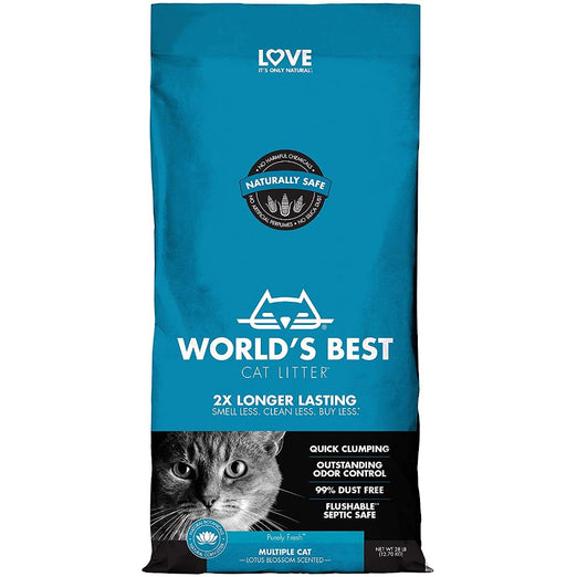 World's Best Cat Litter Multiple Cat Lotus Blossom Cat Litter - Kohepets